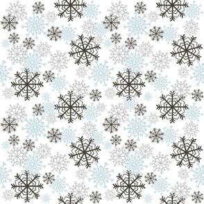Cute Snowflakes Pattern - Blue
