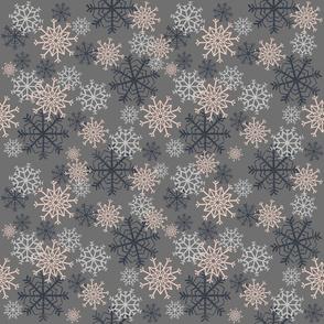 Cute Snowflakes Pattern - Gray