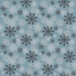 Cute Snowflakes Pattern - Light Blue