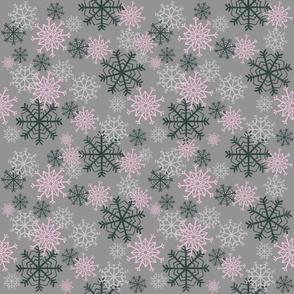 Cute Snowflakes Pattern - Pink