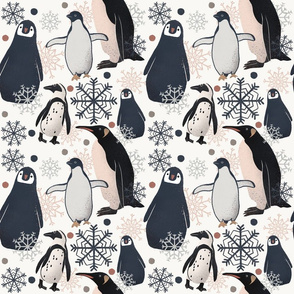 Penguin Pattern - Muted