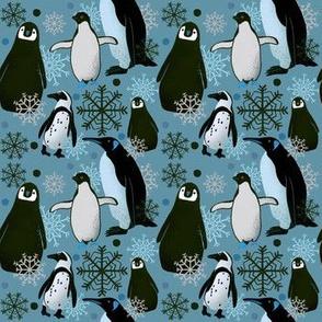 Penguin Pattern - Teal