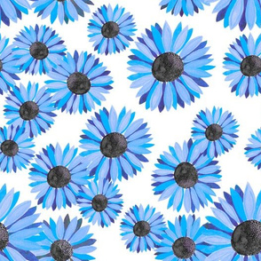 Sunflowers Pattern - Blue