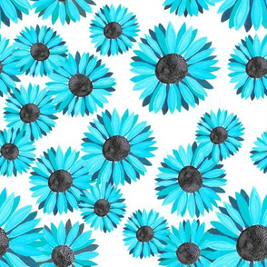 Sunflowers Pattern - Light Blue