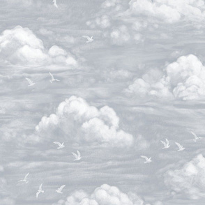 Dreamy Clouds - grey - large