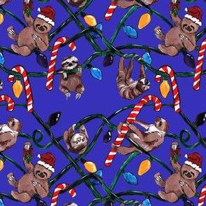 sloths square-BLUE