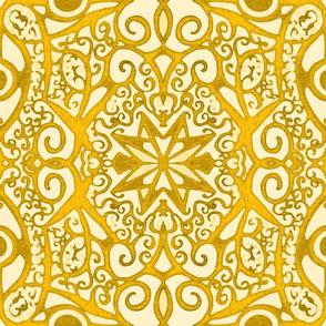 Ironwork Starswirls, Goldenrod, Wallpaper size