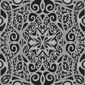 Ironwork Starswirls, Concrete, Wallpaper size