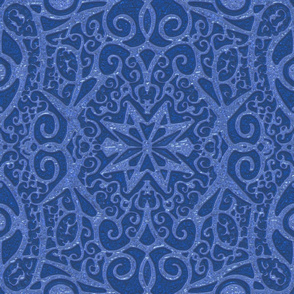 Ironwork Starswirls, Denim, Wallpaper size