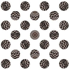 Zebra Dots in Black and White