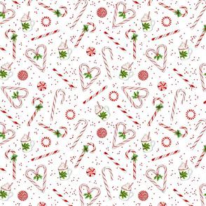 24040 Peppermint Heart Pattern