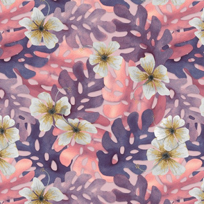 ALT ROSA Hibiscus Pattern Large