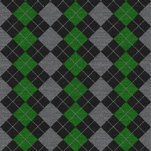 12x12x150 Green and White Diamond
