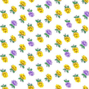 Dainty Rose Large, Yellow & Purple