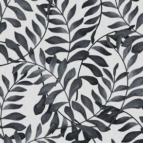 Dark grey fern pattern