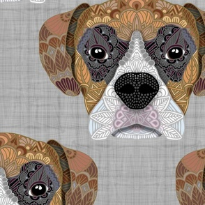 SP 20 2020 COLORED BOXER HEAD PATTERN