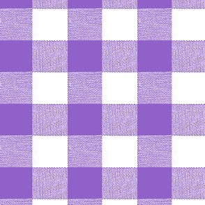 Purple Gingham Large