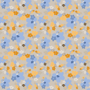 Secret Flowers over beige