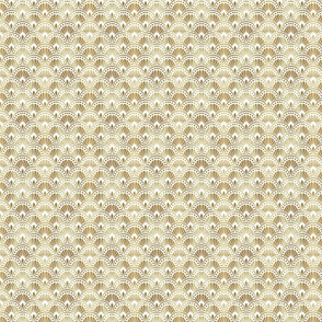 Gold and White Art Deco Pattern Small