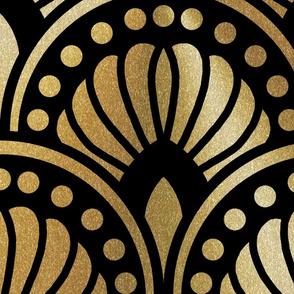 Black and Gold Art Deco XXL