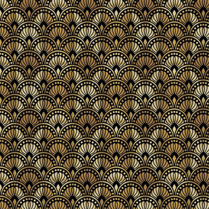 Gold and Black Art Deco Pattern Medium