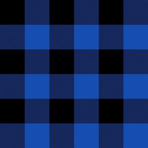 "3"" buffalo check - 1990s blue and black"