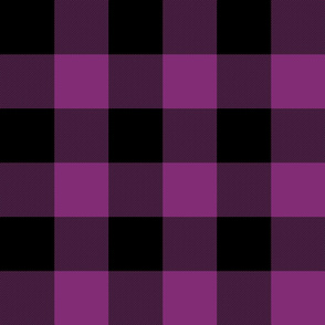 "3"" buffalo check - 1990s purple and black"