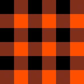 "3"" buffalo check - orange and black"