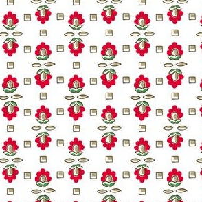 Deco Bloom Ditsy Red Large