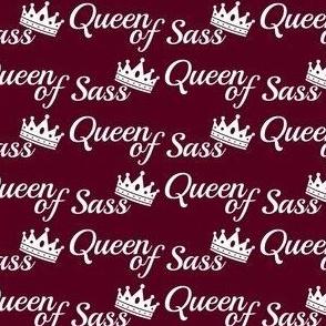 queen of sass burgundy