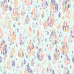 Abstract Pastel Raindrops