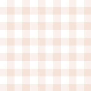 Blush Pink  Buff Gingham Plaid - 0.5 inch