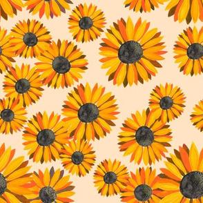 Sunflowers Pattern - Orange 2