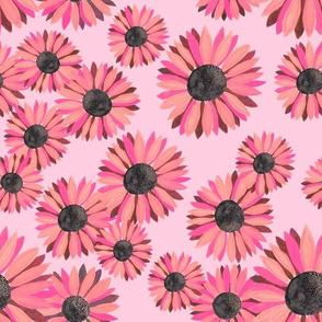 Sunflowers Pattern - Pink 2