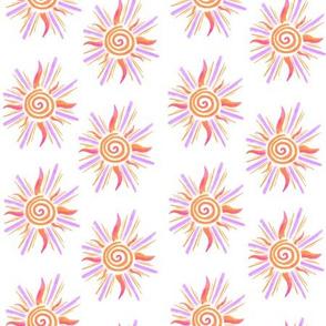 Sunshine Pattern - Orange and Lavender
