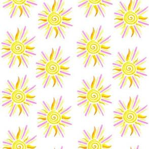 Sunshine Pattern - Yellow and Pink