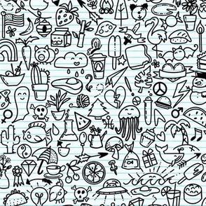 Notebook Doodles Outlines Smaller