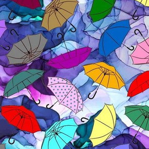 Blustery Sky Umbrellas