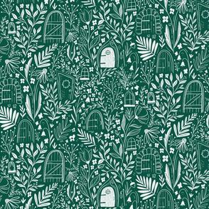 Secret Door Fairy Garden - green