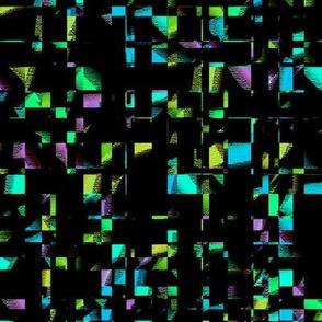 Medium - Mardi Gras Confetti on  Black Background