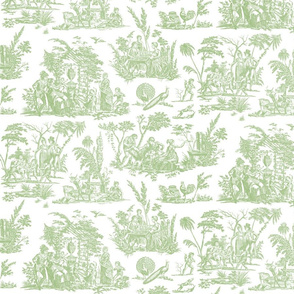Marseilles Toile  ~  Grenouille on White