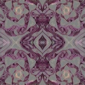 purple silver damask
