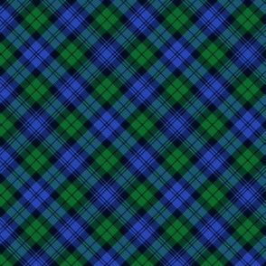 "Campbell tartan, 3"" diagonal, modern colors"