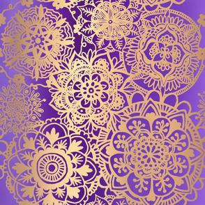 Purple and Gold Mandala Pattern