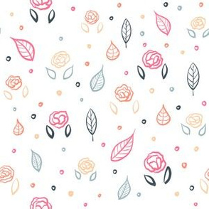 Rose and Leaf Pattern