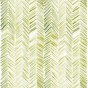 Herringbone - Yellow Green