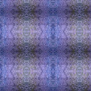 Purple & Blue Wool Rug Knit