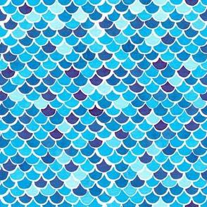 Mermaid Scales - Blue