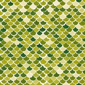 Mermaid Scales - Lime Green
