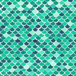Mermaid Scales - Mint